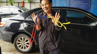 Bác chủ xe Toyota Camry tặng 3 màn ảo thuật bất ngờ