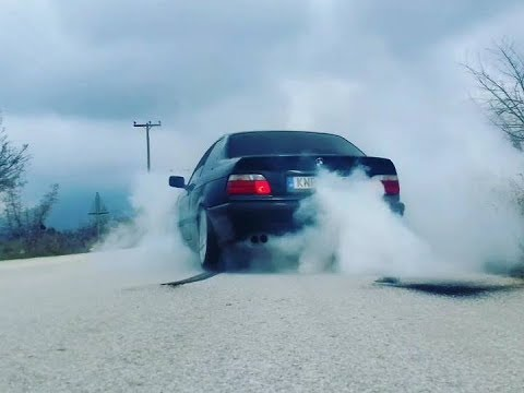 BMW e36 325i burnout open diff 3.15