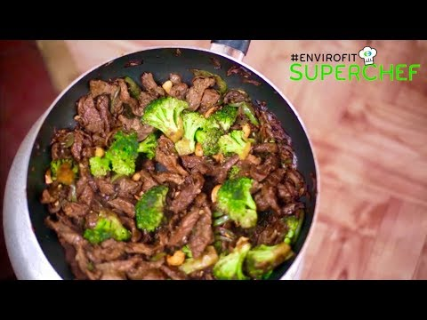 How to make Stir fry beef in broccoli & Cashew nuts | Chef Ali Mandhry