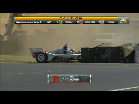 IndyCar Series 2018. Grand Prix of Portland. Will Power Crash