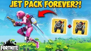 2 JETPACKS = UNLIMITED FLYING? - Fortnite Funny Fails and WTF Moments! #205 (Daily Moments)