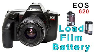How To Load Film And Battery In Canon EOS 620 Film Camera