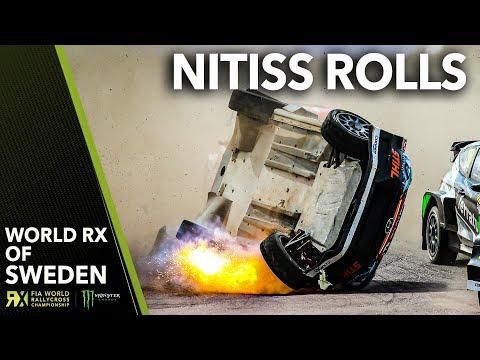 Nitišs' WILD ROLL! | 2019 Swecon FIA World Rallycross of Sweden