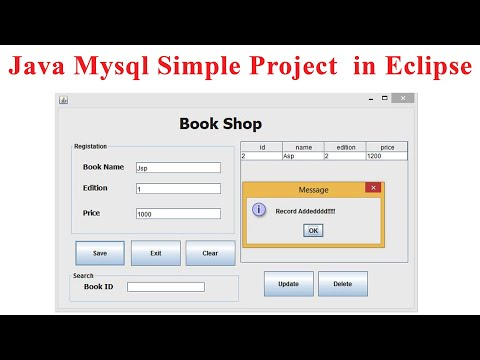 Java Mysql simple project  in Eclipse