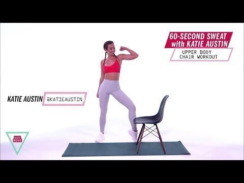 Katie Austin 60-Second Sweat: Upper Body Chair Workout | Health