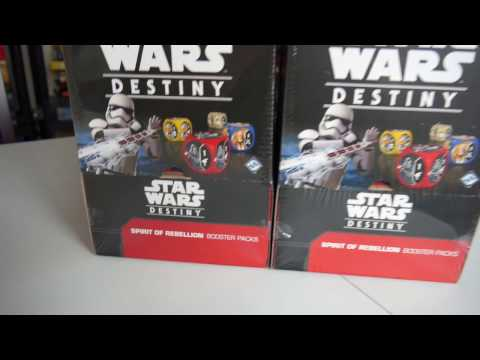 What's in the Box, Star Wars Destiny, Spirit of Rebellion from FFG