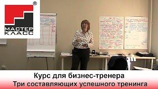 Курс для бизнес-тренера. Три составляющих успешного тренинга