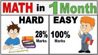 Math ko easy kaise banaye | Math me 100 kaise laye | math ko kaise samjhe ✔