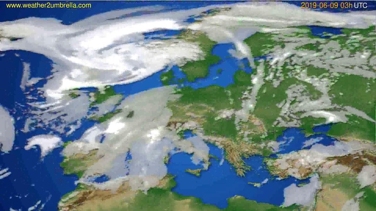 Cloud forecast Europe // modelrun: 00h UTC 2019-06-06