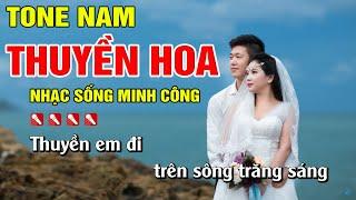 thuyen-hoa-karaoke-nhac-song-cha-cha