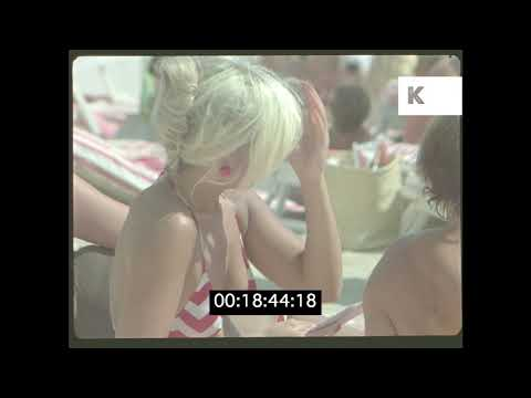 1970s Close Ups of People Sunbathing, Beach, France HD from 35mm