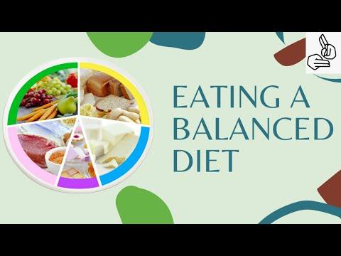 Eating a balanced diet (BSL)