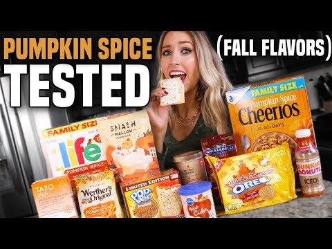 Testing Viral PUMPKIN SPICE / FALL FOODS... What's ACTUALLY Worth It?