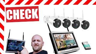 ✅ Funküberwachungskamera mit Monitor und Festplatte TEST