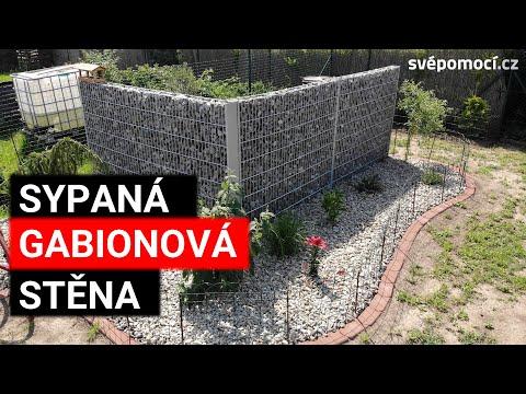 Gabionová sypaná stěna