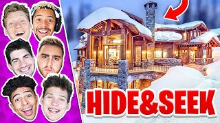 CRAZY GAME OF HIDE AND SEEK IN SNOWY CABIN MANSION!!