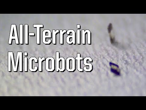 All-terrain microbot moves by tumbling