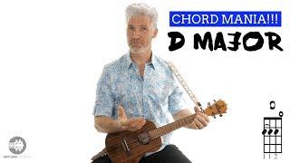 Ukulele Chords Beginner | D Major Chord Mania!!! | 4K