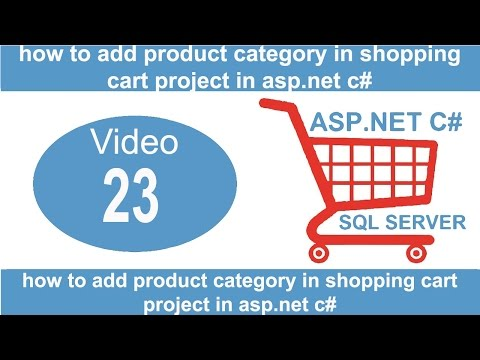 how to add product category in shopping cart project in aspnet csharp