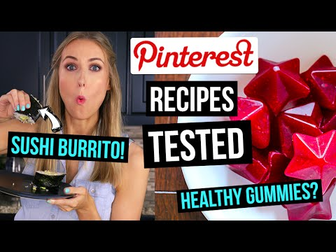 Video Pinterest Recipes TESTED || 3 EASY Meals & Snacks for School or Work!