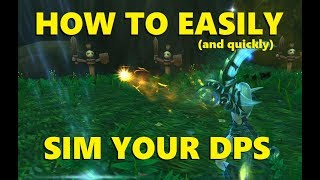 How to Easily Sim Your DPS