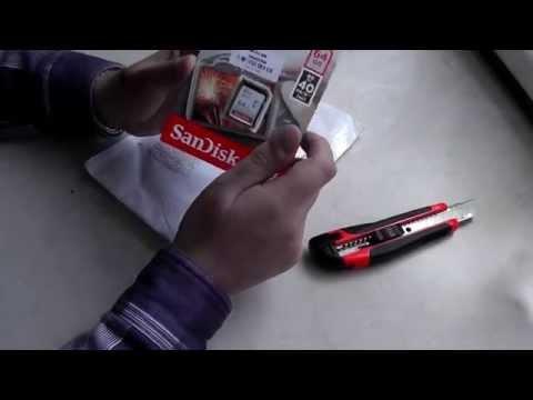 SDXC карта памяти Sandisk Ultra 64GB 40MB/s, распаковка и тесты