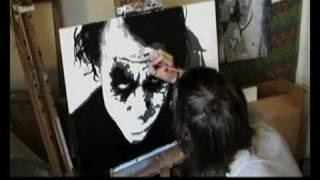JOKER Heath Ledger Batman Speed Art Painting Stephen Quick