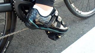 ロードバイクに安いSPD-SL装着してビンディングデビュー