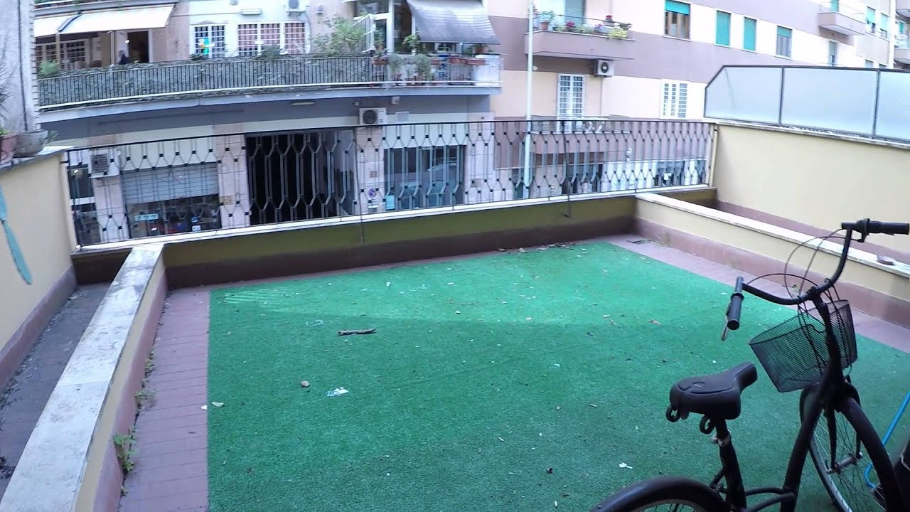 4 rooms available in spacious apartment with terraces and great amenities in Pigneto