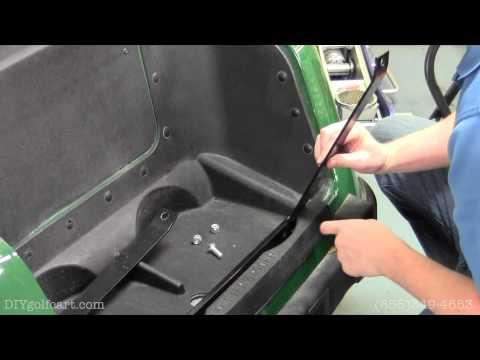 EZGO RXV Golf Cart Rear Seat Kit | How to Install Video | Golf Cart Back Flip Seat