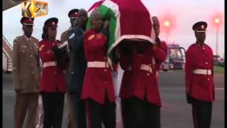 Body of former First Lady, Mama Lucy Kibaki arrives in the country