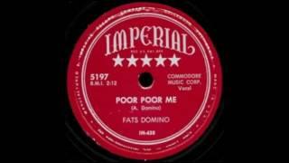 FATS DOMINO   Poor Poor Me   78  1952