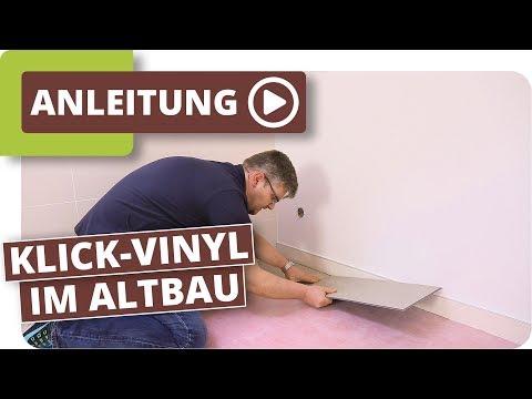 Klick-Vinyl im Altbau - Bodenbelag im Badezimmer verlegen