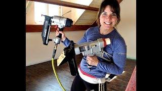Hardwood Loft Flooring Installed -  Floor Nailer vs Finish Nailer