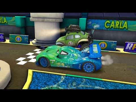 Disney Pixar Cars Carla Veloso VS Shifty Sidewinder & Mcqueen Car Racing Gameplay