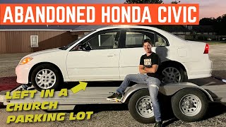 I Bought An ABANDONED Honda Civic From A Church PARKING LOT