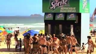 Sprite Giant Soda Machine Shower Guerrilla Marketing Campaign