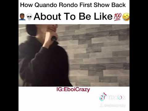 How Quando Rondo First Show Back About To Be Like 🤣🤣