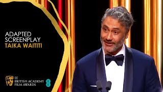 Taika Waititi's Hilarious Acceptance Speech for Jojo Rabbit's Adapted Screenplay Win | EE BAFTA Film