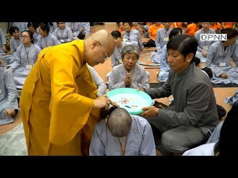 Lễ Xuất Gia cho 167 tu sinh tại Chùa Giác Ngộ trong khóa tu Xuất Gia Gieo Duyên lần 5