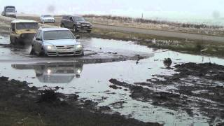 4х4 КЧР Шама.Туарег на 21 колесах через болото
