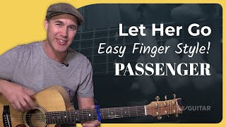 Let Her Go - Passenger - Guitar Lesson Tutorial Acoustic Finger Style (BS-625)