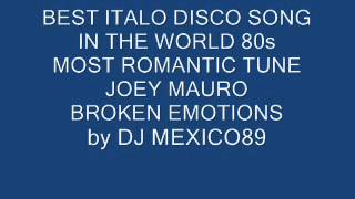 ITALO DISCO 80 Joey Mauro Broken Emotions