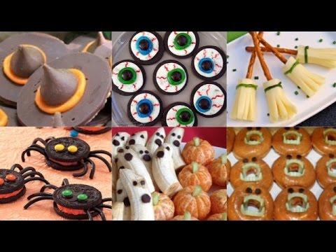 6 Easy NO-BAKE DIY Halloween Treats 2014 | Spiders | Eyeballs | Ghosts | Pumpkins & More!!!