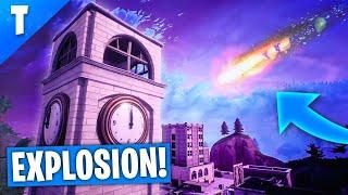 UNE MÉTÉORITE A EXPLOSÉ AU DESSUS DE TILTED TOWERS ! (Fortnite Battle Royale)