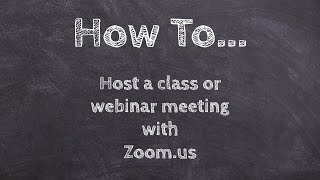 How to host a class or meeting with Zoom! www.zoom.us