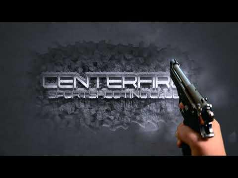 Centerfire Logo Gun Shot auf Wand