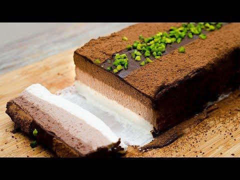 NO BAKE CHOCOLATE CHEESE CAKE l 3 LAYERED CHEESE CAKE l EGGLESS
