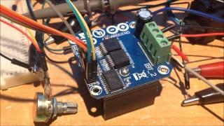 IBT-2 DC PWM bi-directionnal Drive Test