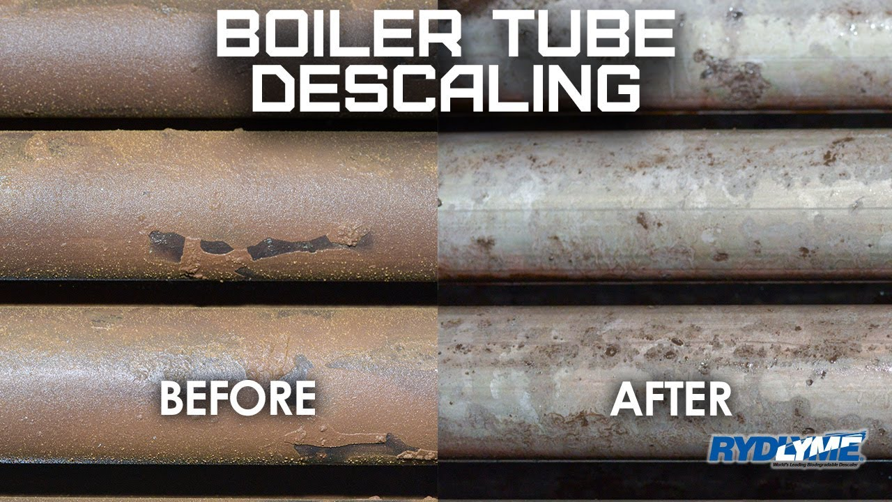 Boiler Cleaning with RYDLYME Biodegradable Descaler